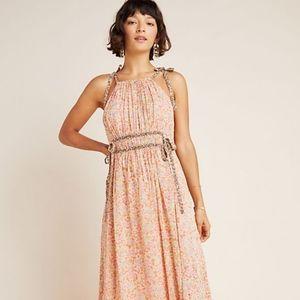 "Anthro ""Clementina Halter Maxi Dress"""